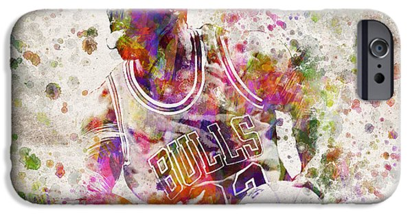 Michael Jordan In Color IPhone Case by Aged Pixel