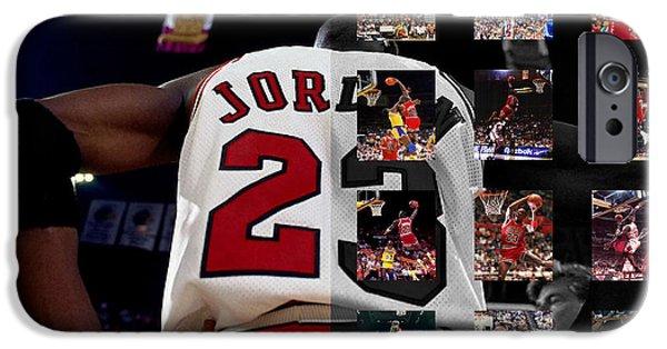 Michael Jordan IPhone Case by Joe Hamilton