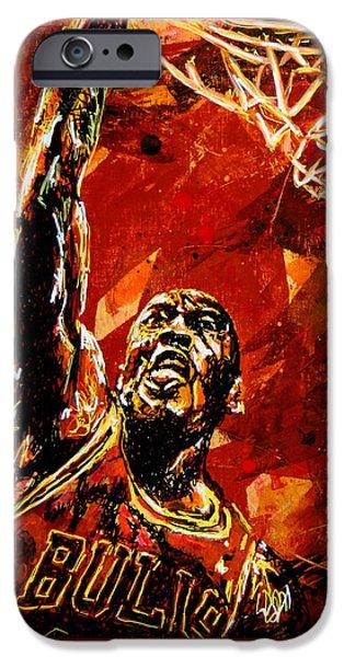 Michael Jordan IPhone 6s Case by Maria Arango