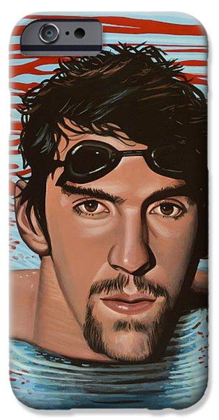 Michael Phelps IPhone Case by Paul Meijering