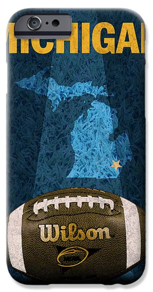 Michigan Football Poster IPhone Case by Design Turnpike