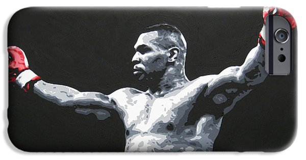 Mike Tyson 1 IPhone Case by Geo Thomson