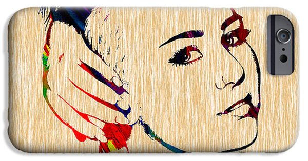 Miley Cyrus Collection IPhone Case by Marvin Blaine