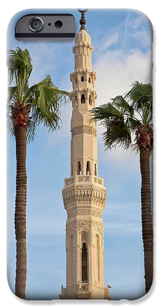 Minaret Of Mosque, Alexandria, Egypt IPhone Case by Peter Adams