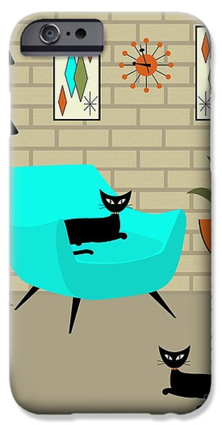 Mini Gravel Art With Brick Wall IPhone Case by Donna Mibus