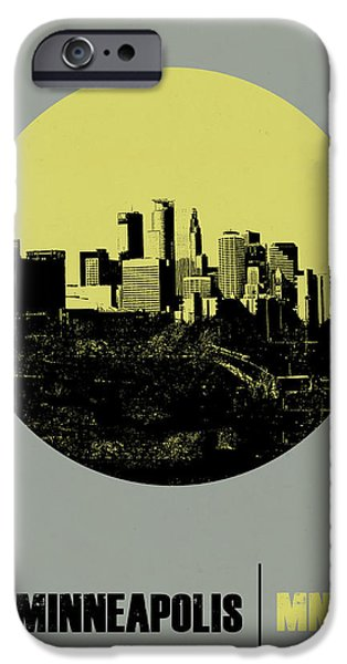 Minneapolis Circle Poster 2 IPhone Case by Naxart Studio