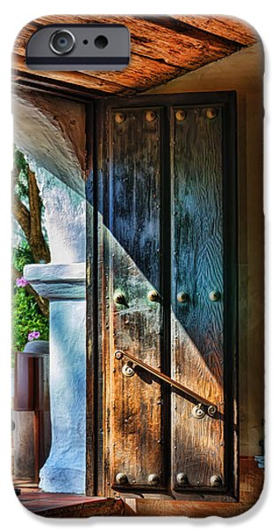 Mission Door IPhone Case by Joan Carroll