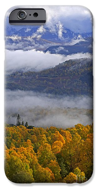 Misty Day In The Cairngorms IPhone Case by Louise Heusinkveld
