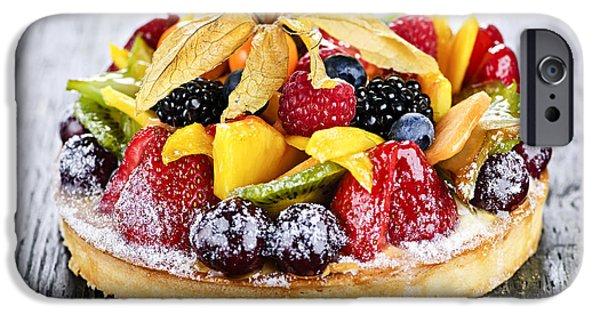 Mixed Tropical Fruit Tart IPhone Case by Elena Elisseeva