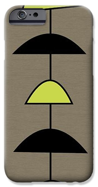Mobile 2 In Green IPhone Case by Donna Mibus
