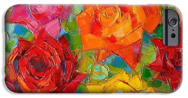 Mon Amour La Rose IPhone Case by Mona Edulesco