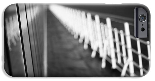 Monochrome Sun Deck IPhone Case by Anne Gilbert