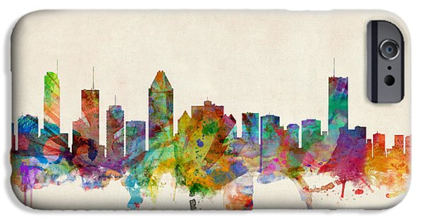 Montreal Skyline IPhone Case by Michael Tompsett