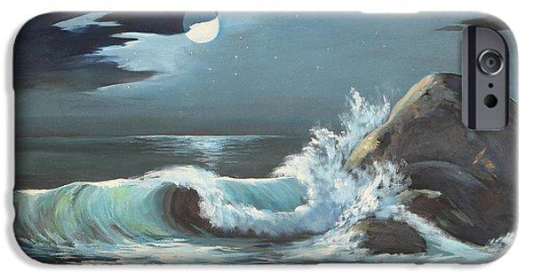 Moonlight On Waves IPhone Case by Jayne Schelden