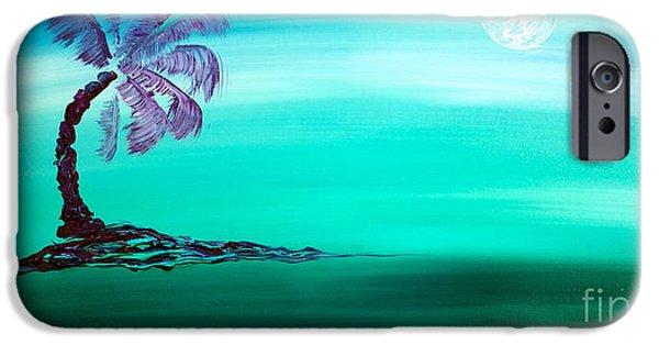 Moonlit Palm IPhone Case by Jacqueline Athmann