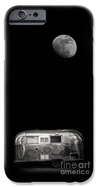 Moonrise Over Airstream IPhone Case by Edward Fielding