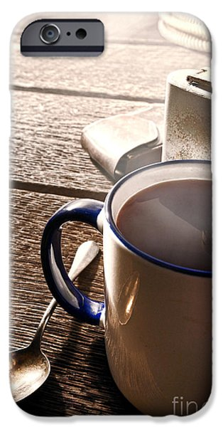 Morning Coffee At The Ranch  IPhone Case by Olivier Le Queinec