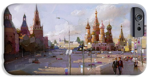 Moscow. Vasilevsky Descent. Views Of Red Square. IPhone 6s Case by Ramil Gappasov