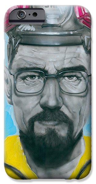 Mr. White IPhone Case by Luis  Navarro