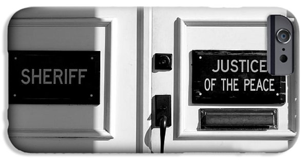 Justice Of The Peace IPhone Case by Michael Eingle