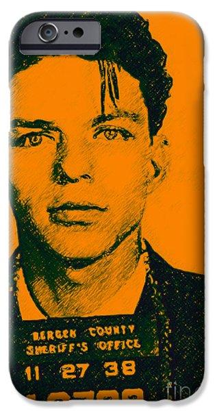 Mugshot Frank Sinatra V1 IPhone Case by Wingsdomain Art and Photography