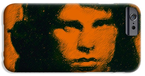 Mugshot Jim Morrison Square IPhone Case by Wingsdomain Art and Photography