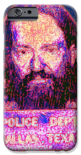 Mugshot Willie Nelson Painterly 20130328 IPhone Case by Wingsdomain Art and Photography