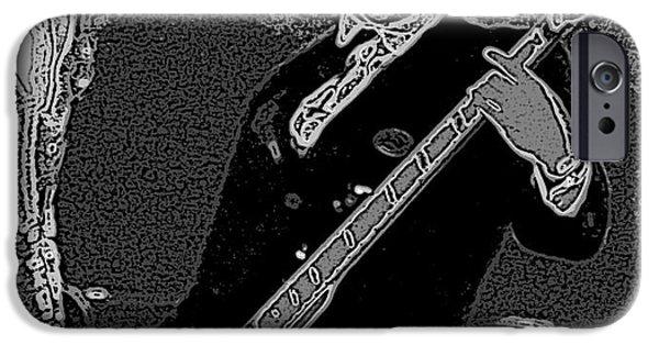Bass Player Art Bw IPhone 6s Case by Lesa Fine