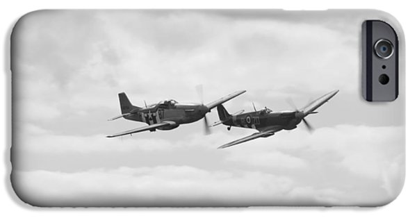 Mustang And Spiffier Fighter Planes IPhone Case by Maj Seda