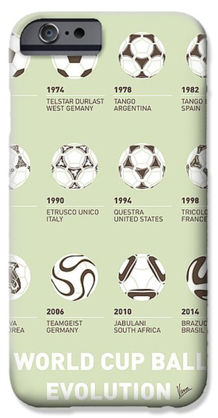 My Evolution Soccer Ball Minimal Poster IPhone Case by Chungkong Art