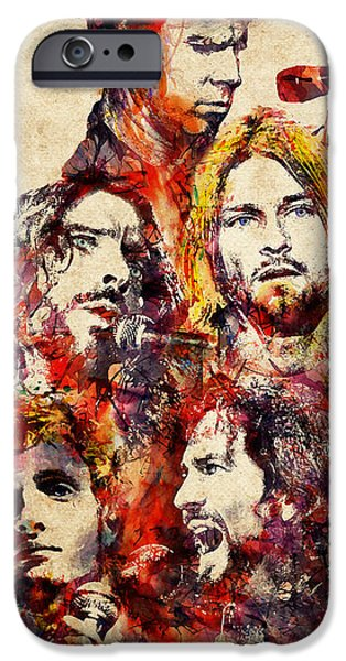 My Grunge Heroes Watercolor IPhone 6s Case by Marian Voicu
