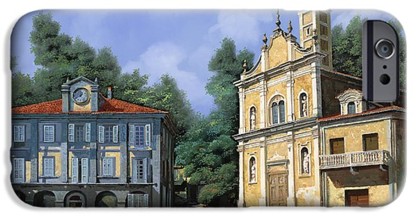 My Home Village IPhone Case by Guido Borelli