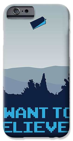 My I Want To Believe Minimal Poster- Tardis IPhone Case by Chungkong Art