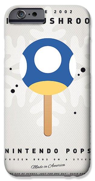 My Nintendo Ice Pop - Mini Mushroom IPhone Case by Chungkong Art