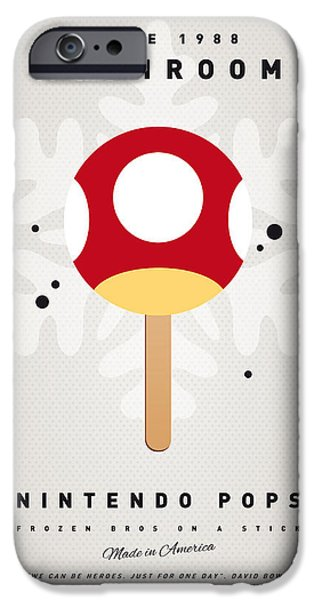 My Nintendo Ice Pop - Mushroom IPhone Case by Chungkong Art