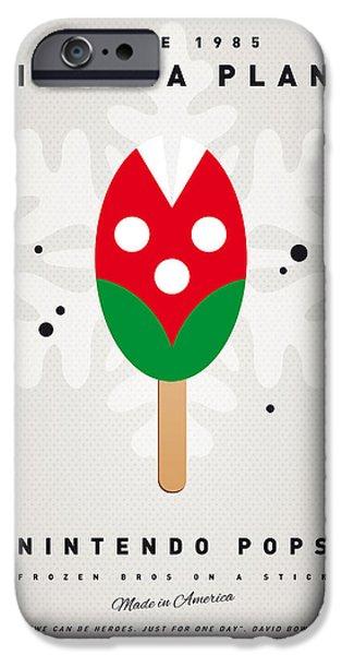 My Nintendo Ice Pop - Piranha Plant IPhone Case by Chungkong Art