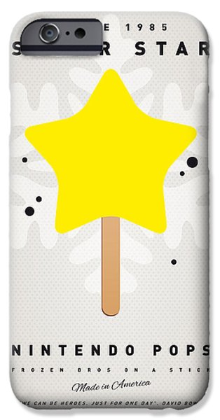 My Nintendo Ice Pop - Super Star IPhone Case by Chungkong Art