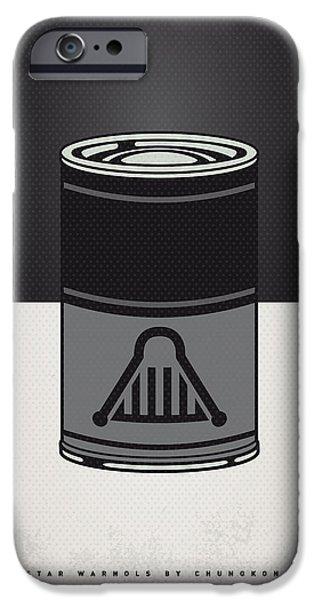 My Star Warhols Darth Vader Minimal Can Poster IPhone Case by Chungkong Art
