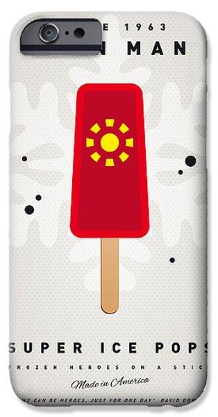 My Superhero Ice Pop - Iron Man IPhone Case by Chungkong Art