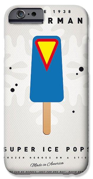 My Superhero Ice Pop - Superman IPhone Case by Chungkong Art