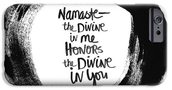 Namaste Enso IPhone Case by Linda Woods