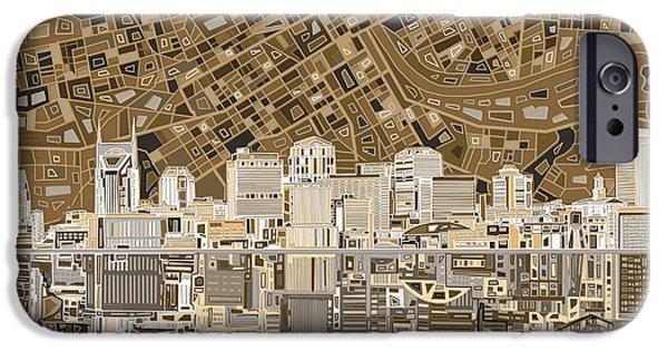 Nashville Skyline Abstract 2 IPhone 6s Case by Bekim Art