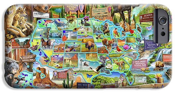 National Parks Of America IPhone Case by Adrian Chesterman