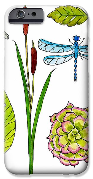 Natural History By The Pond IPhone Case by Blenda Studio