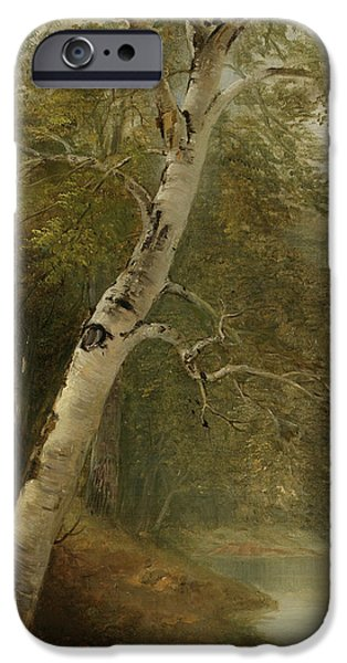 Nature Study   A Birch Tree IPhone Case by Asher Brown Durand