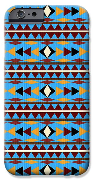 Navajo Blue Pattern IPhone 6s Case by Christina Rollo