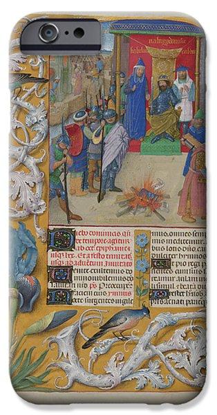 Nebuchadnezzar Burning The Books IPhone Case by British Library