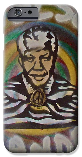 Nelson Mandela IPhone Case by Tony B Conscious