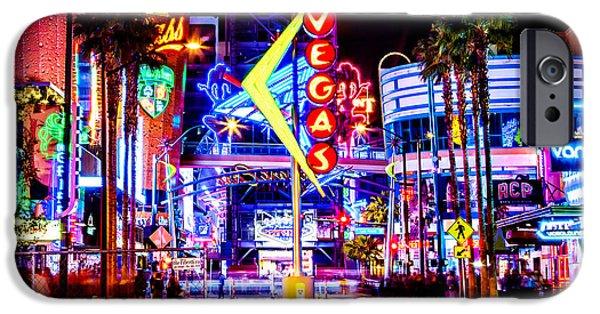 Neon Vegas IPhone Case by Az Jackson