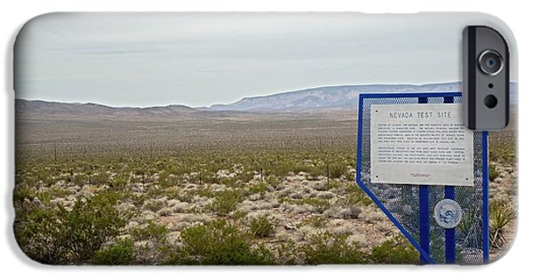 Nevada Test Site Warning Sign IPhone Case by Jim West